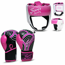 Boxing Sparring Gloves Punch Bag Mitts Headgear Head Guard Training Helmet Pink