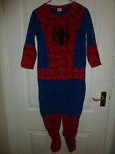 Boys SPIDERMAN  Onesie, All in one/sleepsuit,pyjamas,babygrow - Age  6/7