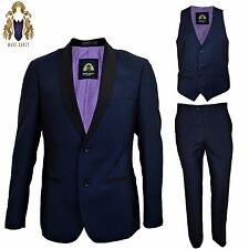 Mens Marc Darcy 3 Piece Suit All Blue Blazer Waistcoat Trousers Sold Separately