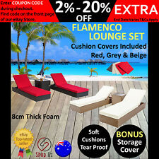NEW OUTDOOR SUN LOUNGE LOUNGER Loungers Lounges Sunlounger Pool Furniture Wicker