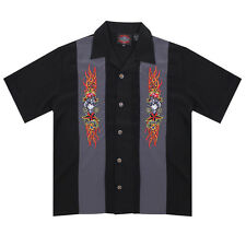 Dragonfly Roadhouse Rockabilly Button up Short Sleeve Shirt