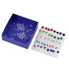 Free Hot Rhinestone Clear/Multicolor Ear Studs Jewelry Earrings Crystal