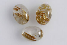 20x15MM Golden Rutile Oval Shape, Calibrated Cabochons AG-208
