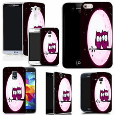 gel case cover for many mobiles -  pink night owls silicone