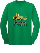 I'm Digging St. Patricks Tractor Loving Boys Gift Youth Kids Long Sleeve T-Shirt