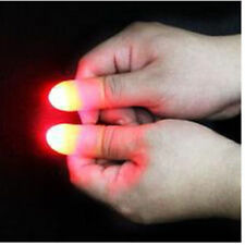 2×Party Magic Light Up Glow Thumbs Fingers Trick Toy Gift Soft Rubber Finger