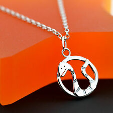 Handmade 925 Sterling Silver Zodiac Snake Necklace - Year of the Snake Jewellery