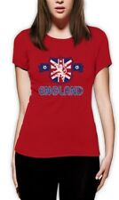 ENGLAND Flag Crest Women T-Shirt UK National Team Soccer Football World Cup 2015