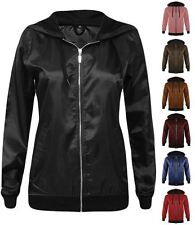 New Womens Lightweight Rain Jacket Festival Anorak Bomber Coat Top