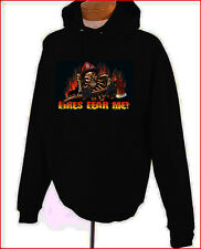 Fires Fear Me Firefighter Skull Fireman Hoodie Black S-XL NEW Sweatshirt
