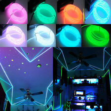 1/2/3/4/5M Flash Flexible Neon LED Glow EL Strip Tube Wire Rope Party Light CA