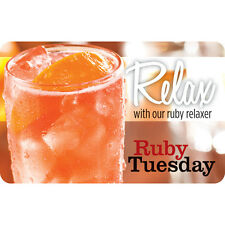 Ruby Tuesday Gift Card - $25, $50 or $100 - Fast Email delivery