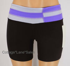 NEW LULULEMON Groove Short 2 Reversible Black Quilt Power Purple NWT FREE SHIP