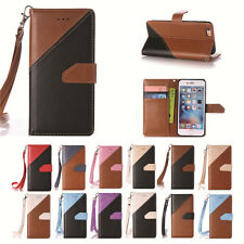 Luxury PU Leather Color Stitching Cover Case & Hand Rope for Apple iPod Touch 5