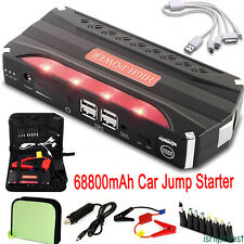 68800mAh 69800mah Car Jump Starter Emergency Charger Booster Power Bank Battery