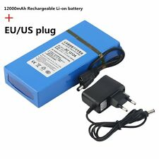 12000MAH Large Capacity Long Battery Life DC 12V Rechargeable Li-ion Battery DB