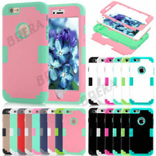 New Heavy Duty Rugged Hybrid Silicone Glossy Matte Case For Apple iPhone Seires