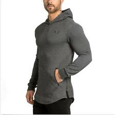 Men Fashion Solid Casual Long Sleeve Hoodie Jumper Pullover Sweatshirt Top Shirt