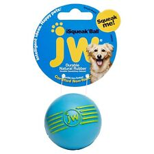 JW RUBBER ISQUEAK BALL DOG TOY For Training & Playing *USA Brand- Small Or Large
