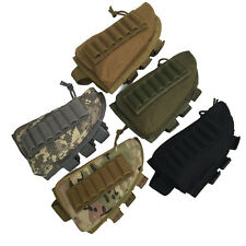 Tactical Hunting Rifle Shotgun Buttstock Cheek Rest Ammo Pouch Shell Mag Holder