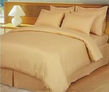 Hotel Bedding Collection-Duvet/Fitted/Flat 1000TC Egyptian Cotton Gold Striped