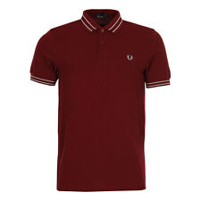 New Mens Fred Perry  Polo Shirt - Tramline Rosewood   Short sleeve  Polo neck