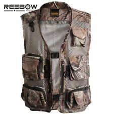 REEBOW TACTICAL Outdoor Fishing Camouflage Vest Bionic Leaf Hunting Shooting