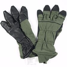 USGI Nomex Intermediate Cold Flyers Glove HAU-15/P Sage Green & Black Leather