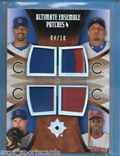 Cubs Quad Jersey Patch DERREK LEE/CARLOS ZAMBRANO/KERRY WOOD/ALFONSO SORIANO /10