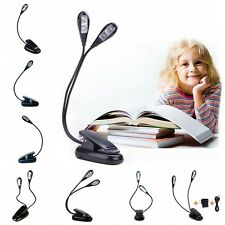 Single / Dual Arms Flexible Clip-on LED Book Reading Bright Lights Lamps Torch