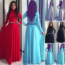 Maxi Long Dress Womens High Neck Prom Cocktail Evening Party Bridesmaids Dresses