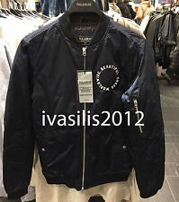 Pull&Bear MAN Patches bomber jacket NAVY BLUE S-XL( ZARA GROUP ) Ref. 5714/502