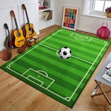 CHILDRENS FOOTBALL PITCH RUGS FLOOR KIDS BEDROOM PLAY MATS SOFT CARPETS NON SLIP