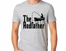 Fishing T-shirt Funny Gift For Fisherman Tee The Rodfather Fish Mens shirt D124