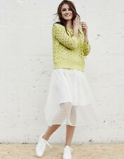 BNWT Womens Numph Tomoyo Skirt in White RRP £45 Smart/Casual