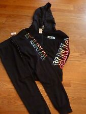 """VICTORIAS SECRET PINK RARE """"PINK"""" BLING OMBRE HOODIE OR PANTS SOLD SEPARATELY NW"""