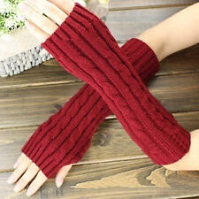 Winter Women Men's Gloves Arm Warmer Long Fingerless Knit Mitten Warm Glove Hot