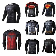 Gym Sports Men Boys Marvel Superhero Compression T-Shirt Bike Cycling Clothing