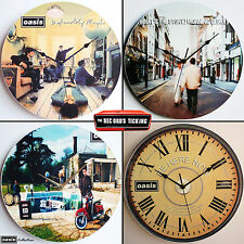 "Oasis Collection 12"" Vinyl Record Clocks pretty green definitely maybe gallagher"