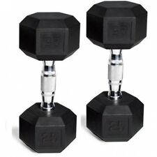 CAP Barbell Rubber-Coated Hex Dumbbells, Set of 2. Best Price