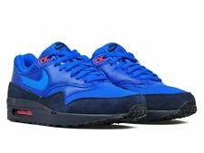 NIKE AIR MAX 1 FB Blue Suede Trainers - UK 8 & UK 9.5 ( 579920 400 )