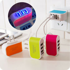 Triple USB Port Wall Home Travel AC Power Charger Adapter 3.1A EU OU