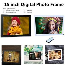 """15"""" LED HD High Resolution Digital Picture Photo Frame + Remote Controller OU"""