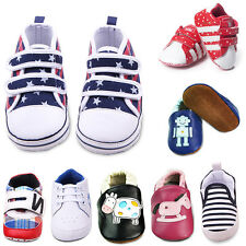 Baby Toddler Infant Soft Sole Leather Prewalker Crib Shoes Sneakers 3-12 Months