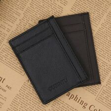 Solid Color GUBINTU Card Bag Business Card Holder Men Credit ID Card Wallet EG
