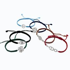 New Arrival Multicolor Unique Silver Charms Rope Woven Adjustable Bracelets