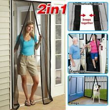 2x Fly Screen Mosquito Bug Door Magic Magna Mesh Magnetic Curtain Hands Free OT