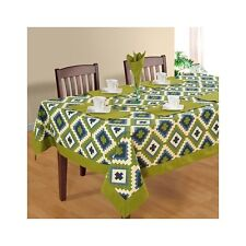 Zig Zag Printed Green Tablecloth Tableware Rectangular Table Cover New Runner
