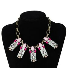 Women Fashion Charm Statement Vintage Chain Necklace & Pendant Crystal Jewelry