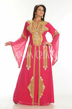 DUBAI VERY FANCY KAFTANS NEW abaya jalabiya Ladies Maxi Dress Wedding gown 3396